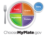 choose my plate logo with colorful plate and silver fork