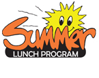 Summer Lunch Program logo with yellow smiling sun graphic